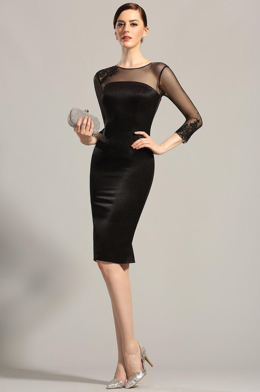 Long Sleeves Sheer Top Little Black Dress Cocktail Dress 26152900 Cocktail Dress Classy Black Cocktail Dress Elegant Dresses [ 1500 x 996 Pixel ]