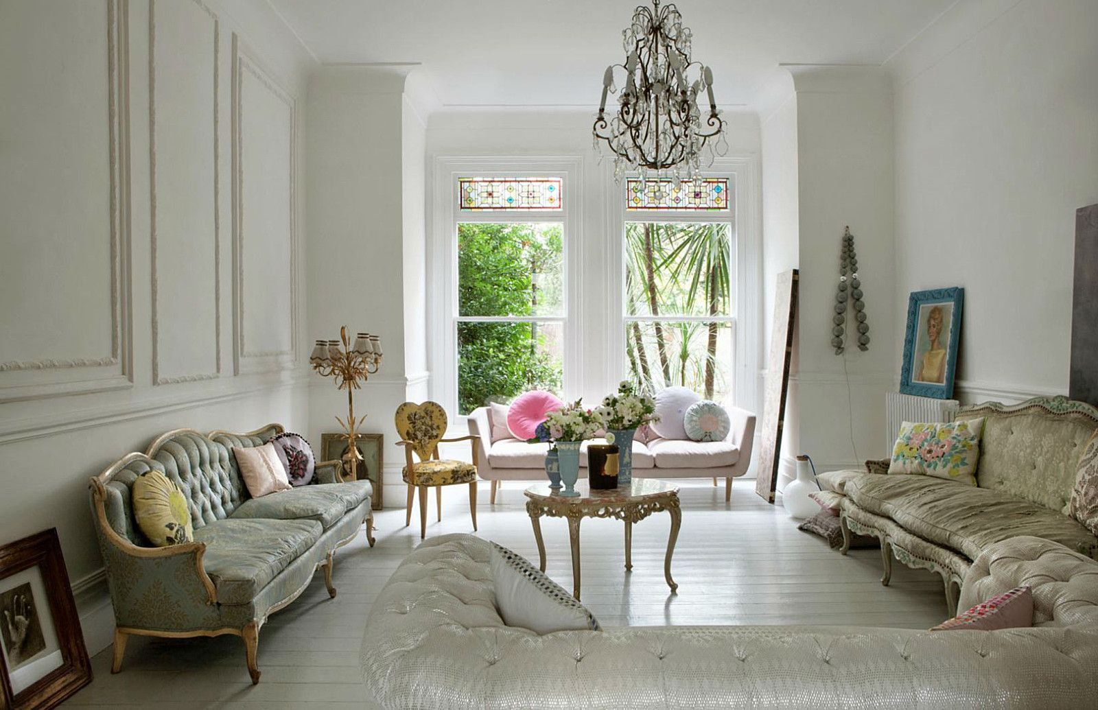 Soggiorno Shabby Bianco Mapesbury Road Marianne Cotterill Home London More Interiors