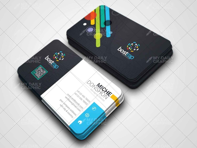 Futuristic Qr Business Card Template Business Cards Pinterest