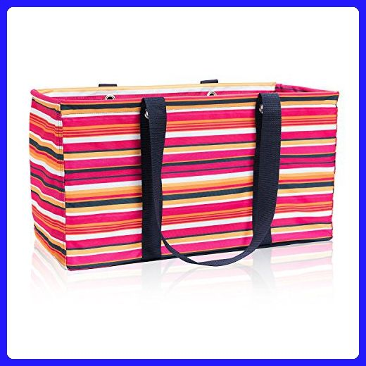 5d06d19206db Thirty One Large Utility Tote in Pinstripe Punch - No Monogram ...