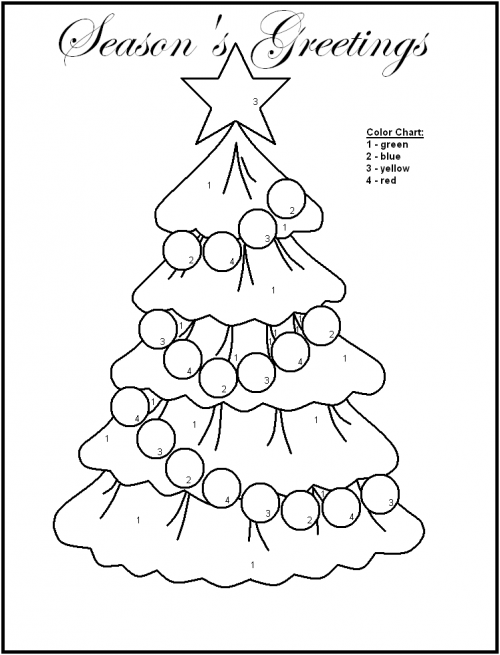 Color By Number Christmas Worksheets Christmas Tree Coloring Page Tree Coloring Page Free Christmas Printables
