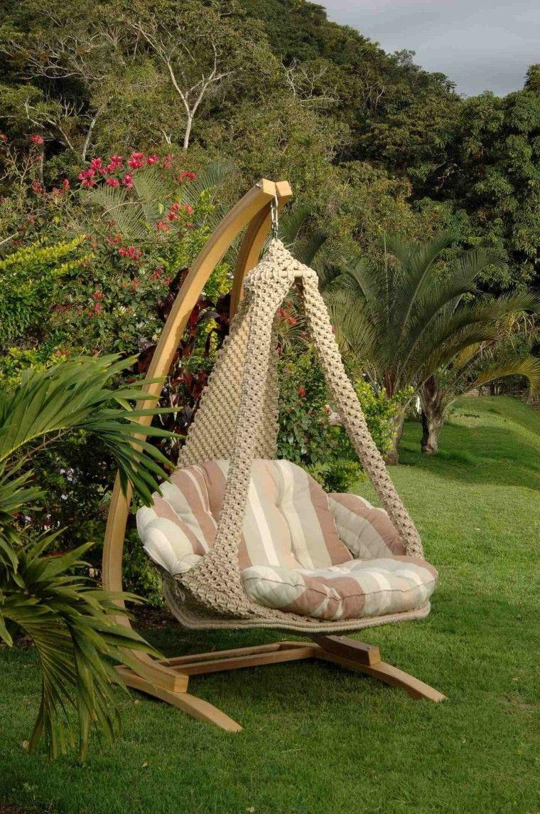 Sillones colgantes de jard n terraza o patio sillones for Sillones de patio de madera