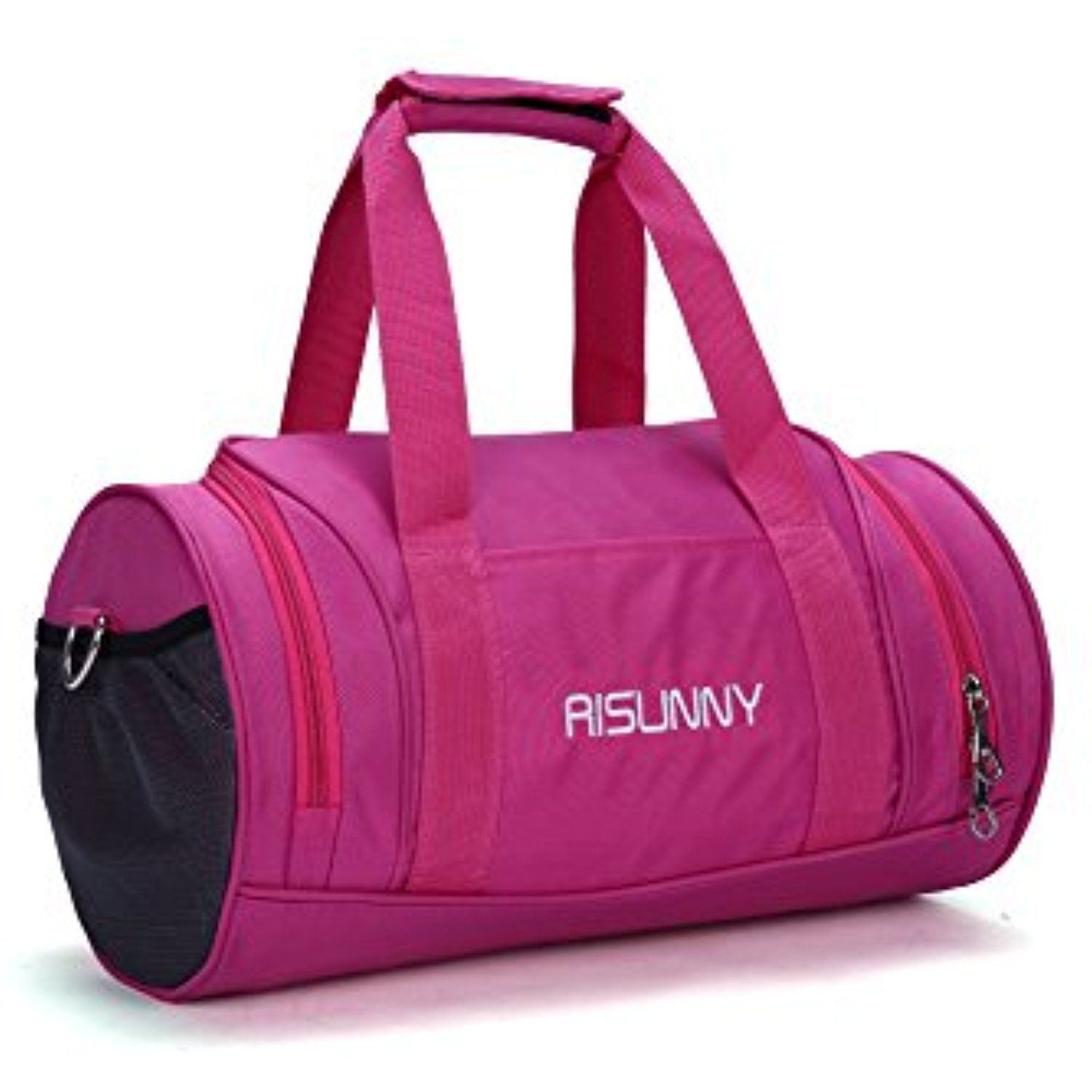 5d16ba22c0 RISUNNY Barrel Fitness Gym Bag Small Travel Sports Bags for Men and Women   Accessories