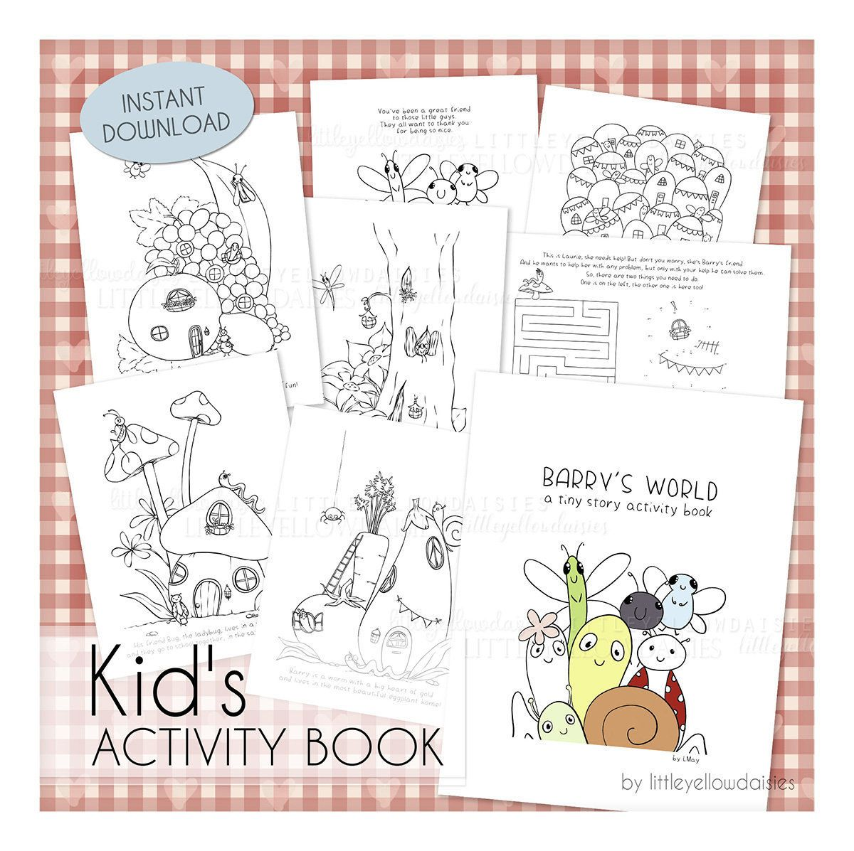 Coloring Book For Kids Pdf Pages To Color Activities For Etsy Coloring Pages For Kids Coloring Books Activity Sheets For Kids