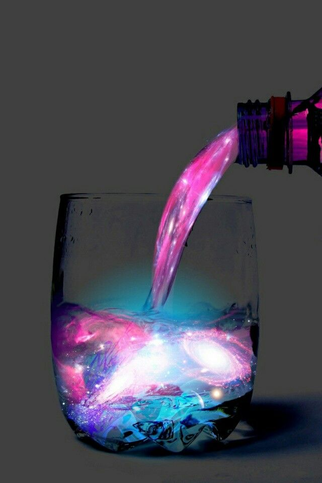 Pouring a galaxy into a rocks glass