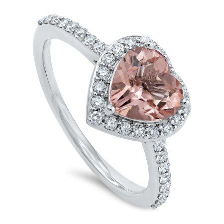 rosa diamant ring