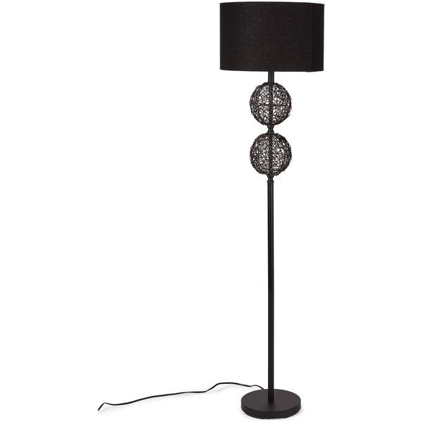 Uma Rattan Sphere Floor Lamp (1.120 ARS) ❤ Liked On Polyvore Featuring  Home, Lighting, Floor Lamps, Tan, Orb Floor Lamp, Taupe Lamp, Rattan Floor  Lu2026