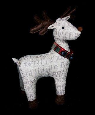 Multi-coloured reindeer ornament Sale - Gisela Graham Sale