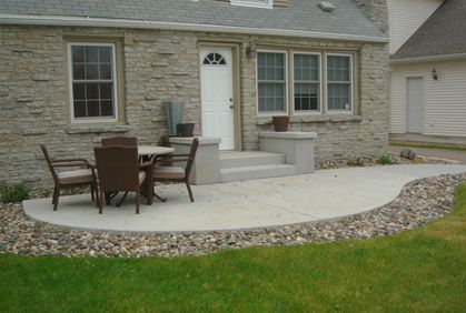 Top 2015 Cheap Patio Ideas on a Budget Ideas | Concrete ... on Stone Patio Ideas On A Budget id=77597