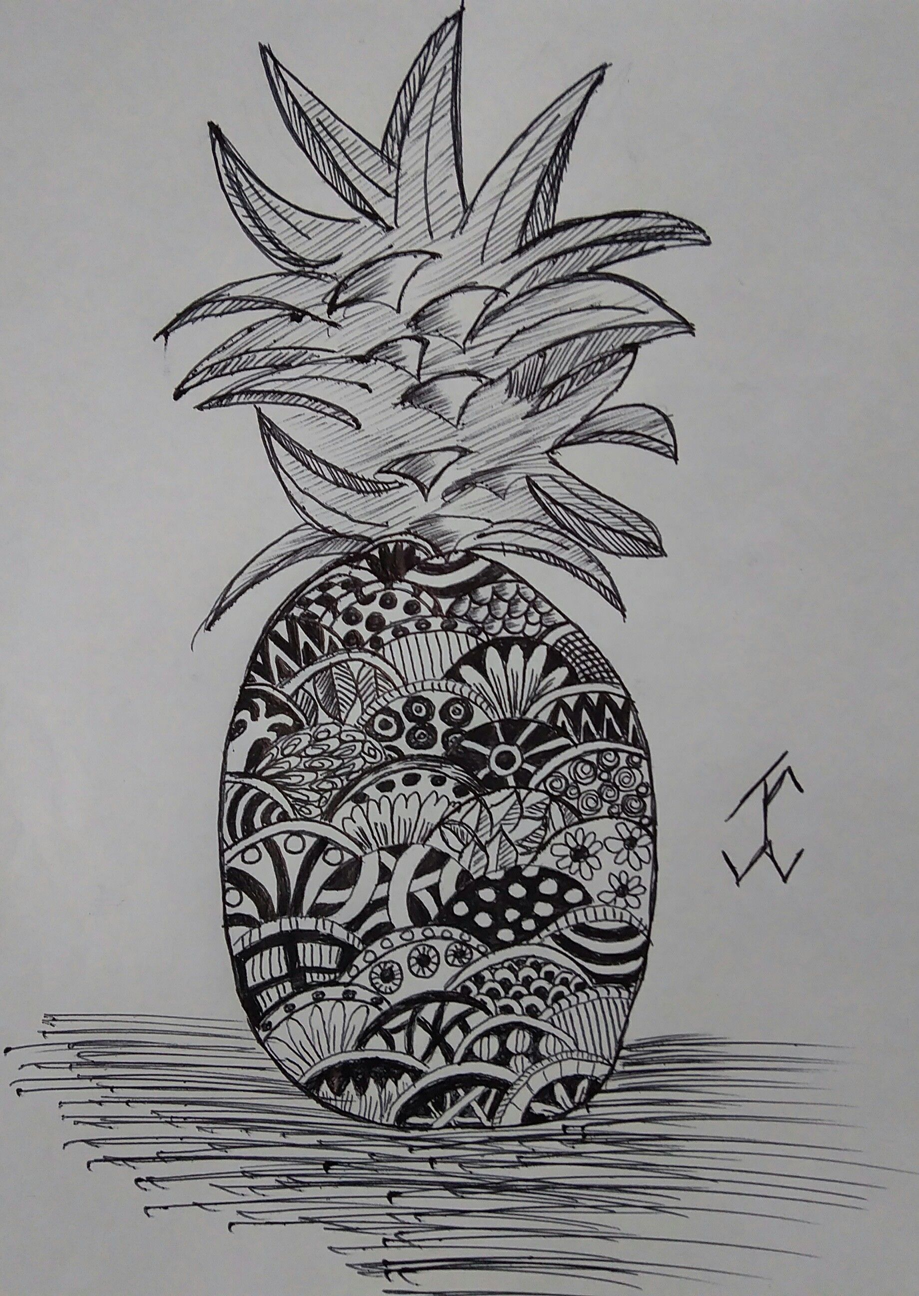 Shapepineapple Followewrs Instagram Zentangle 3d