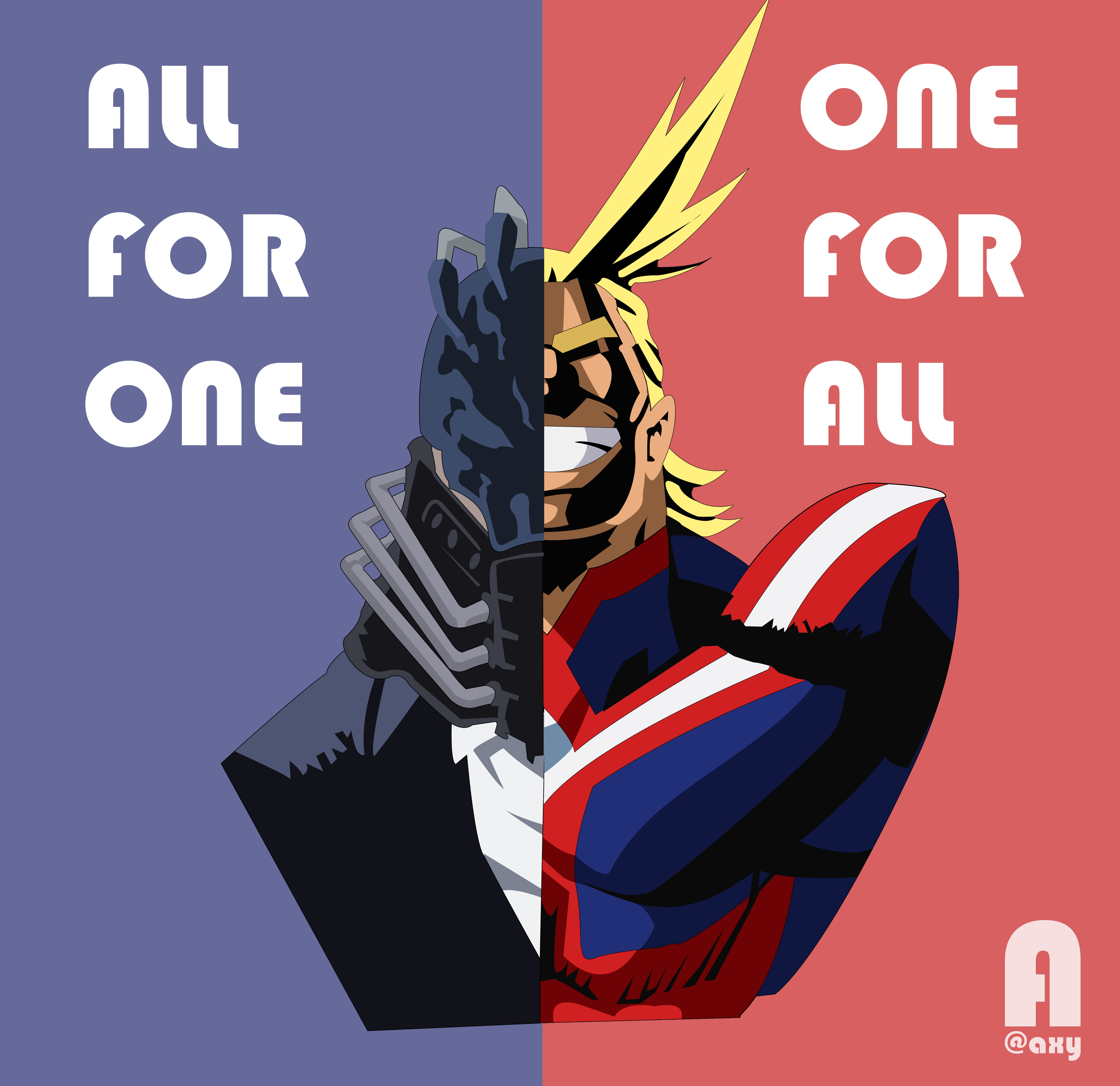 Boku No Hero Academia One For All Vs All For One I Ve Been Waiting For This Epic Fight Art Design Illustra Hero Wallpaper My Hero Boku No Hero Academia