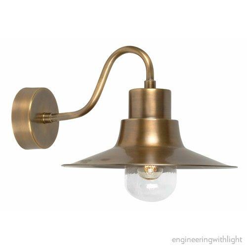 Sheldon Brass Wall Lightoutdoor wall lightsPinterest