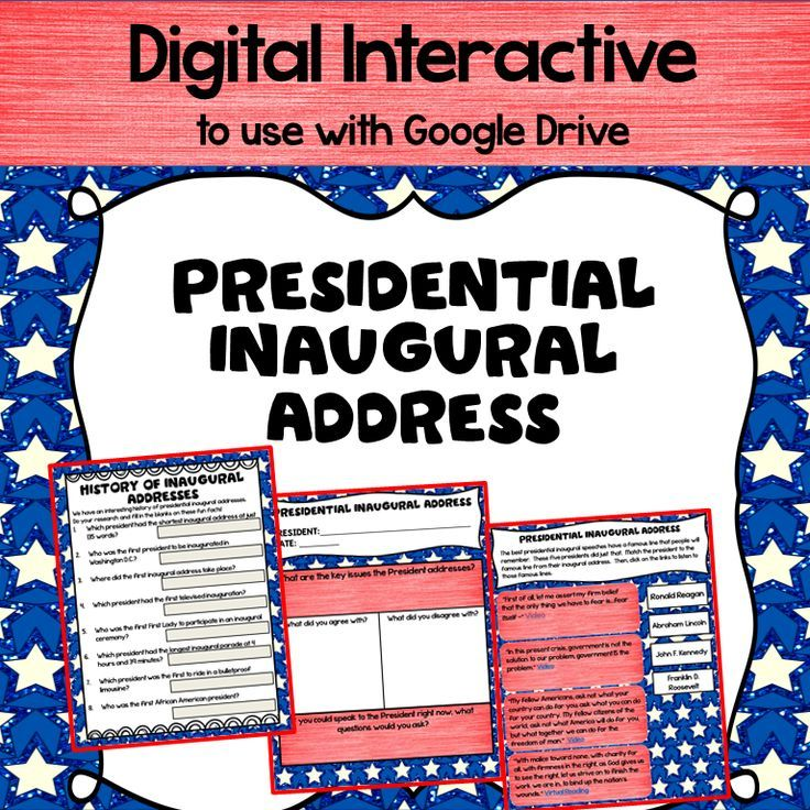 Presidential Inaugural Address with Google Drive Social