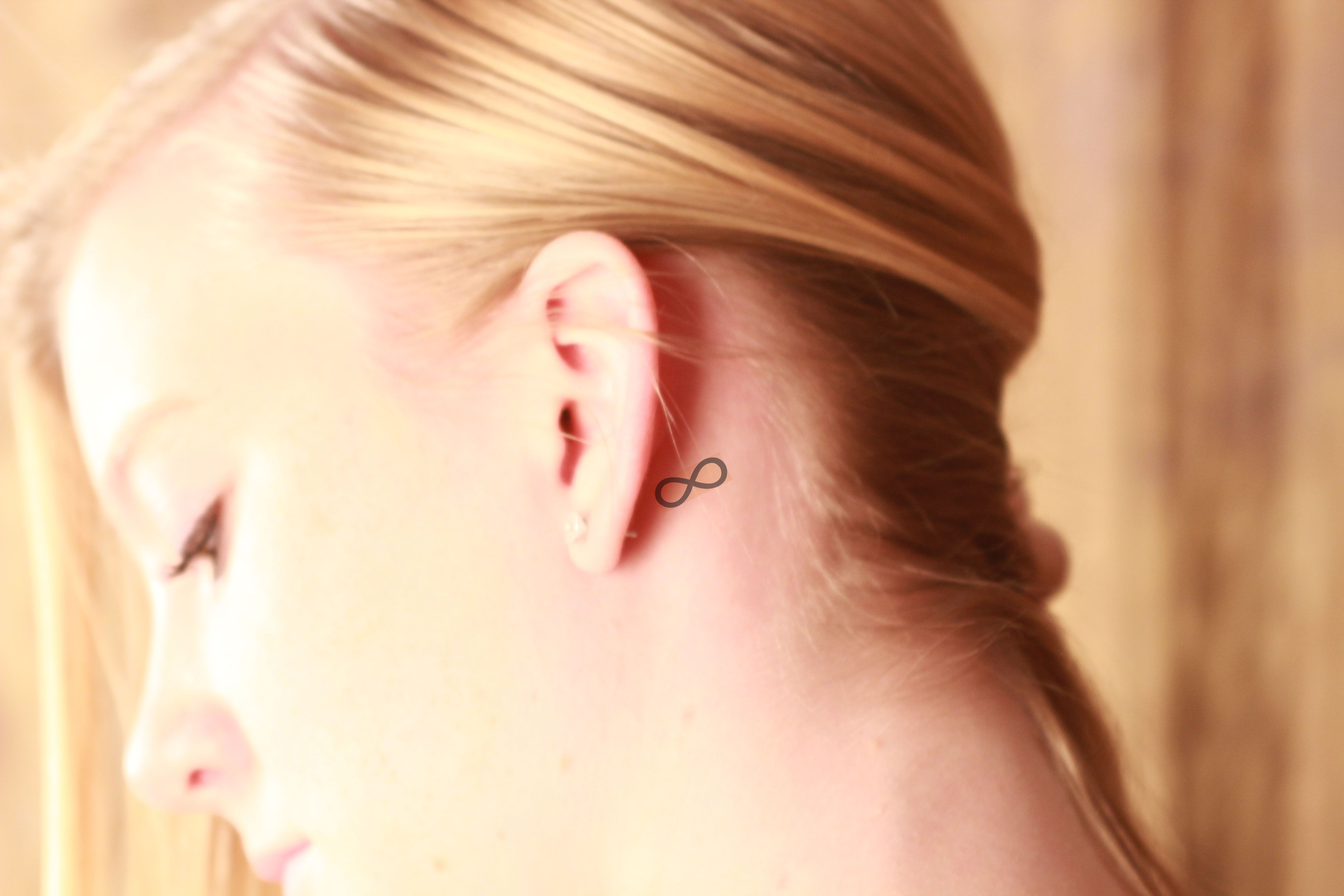 Ideas For Tattoos Behind The Ear - Infinity tattoo behind ear tattoobite com