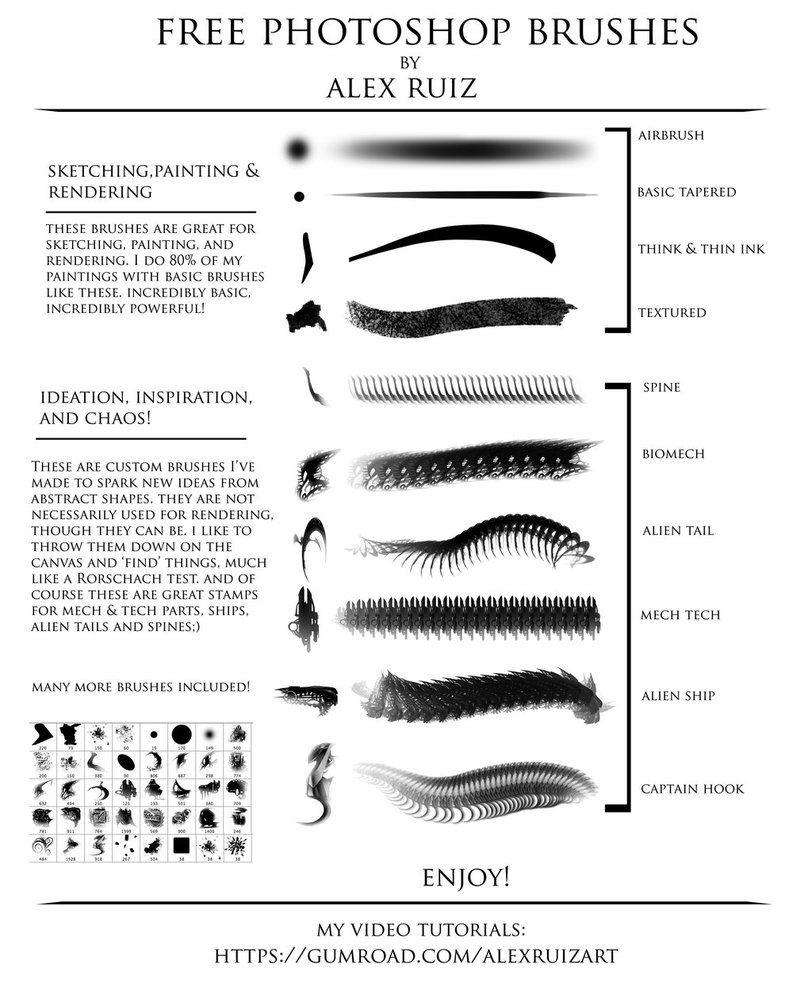 FREE Brushes! by AlexRuizArt on DeviantArt