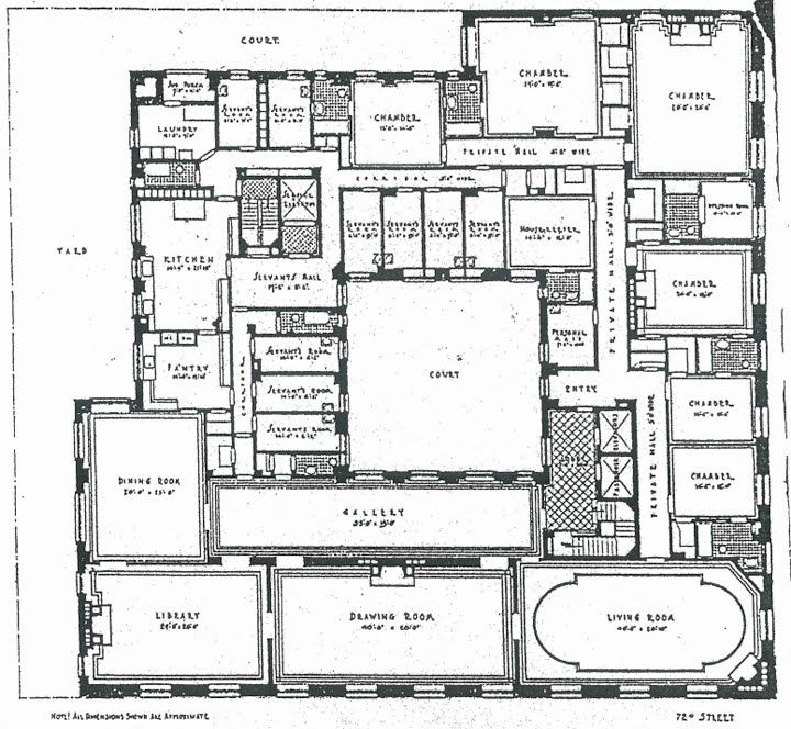 First Floor Plan Of An Apartment Building On 5th Avenue And 81st