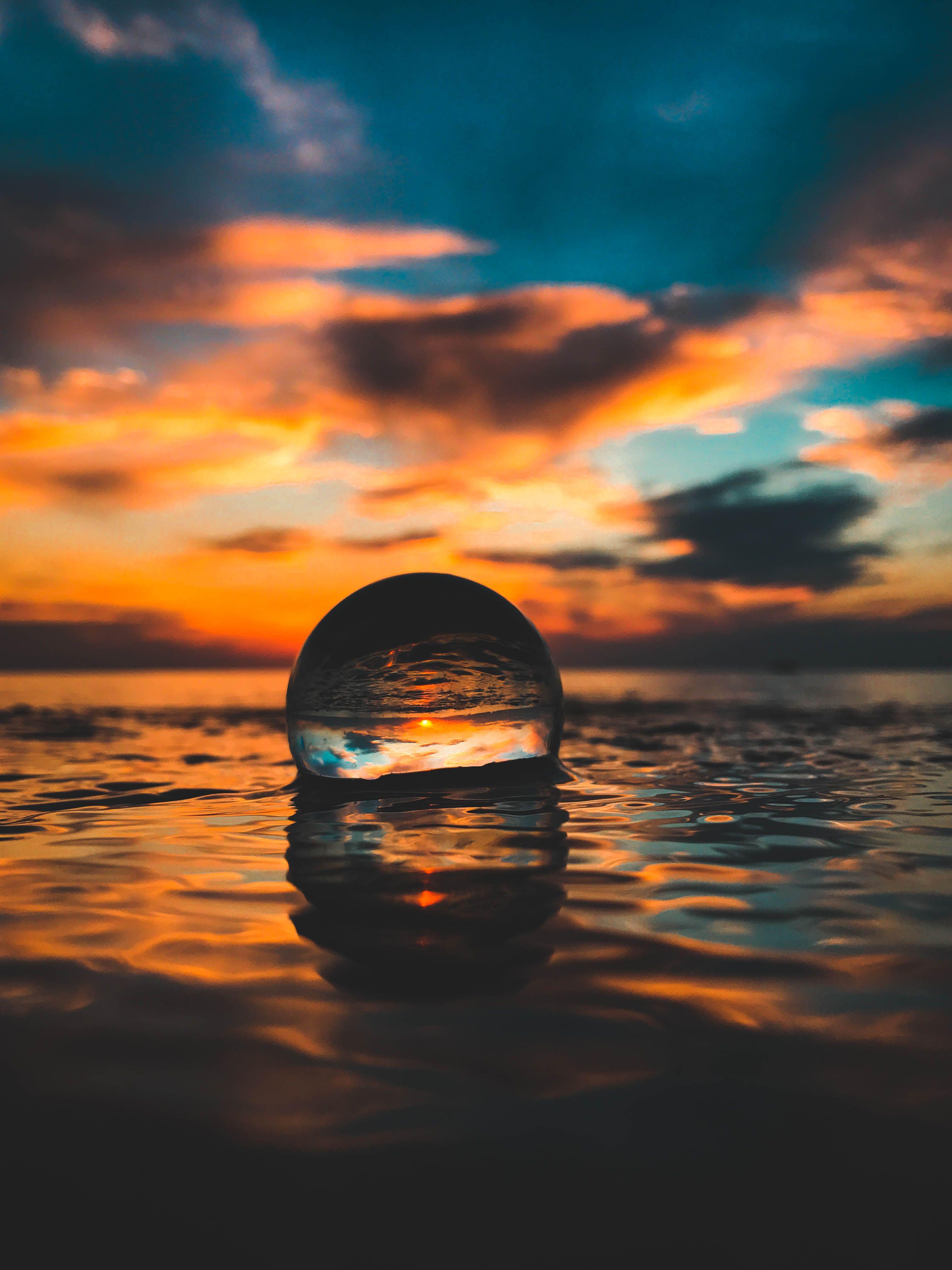 Original Lensball Crystal Photography Nature Photography Sunset Photography Wallpaper glass ball beach sand wave