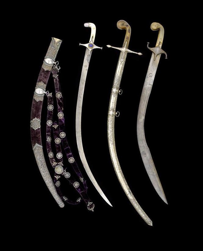 A rare Ottoman horn-hilted Sword (shamshir) Turkey, 18th Century