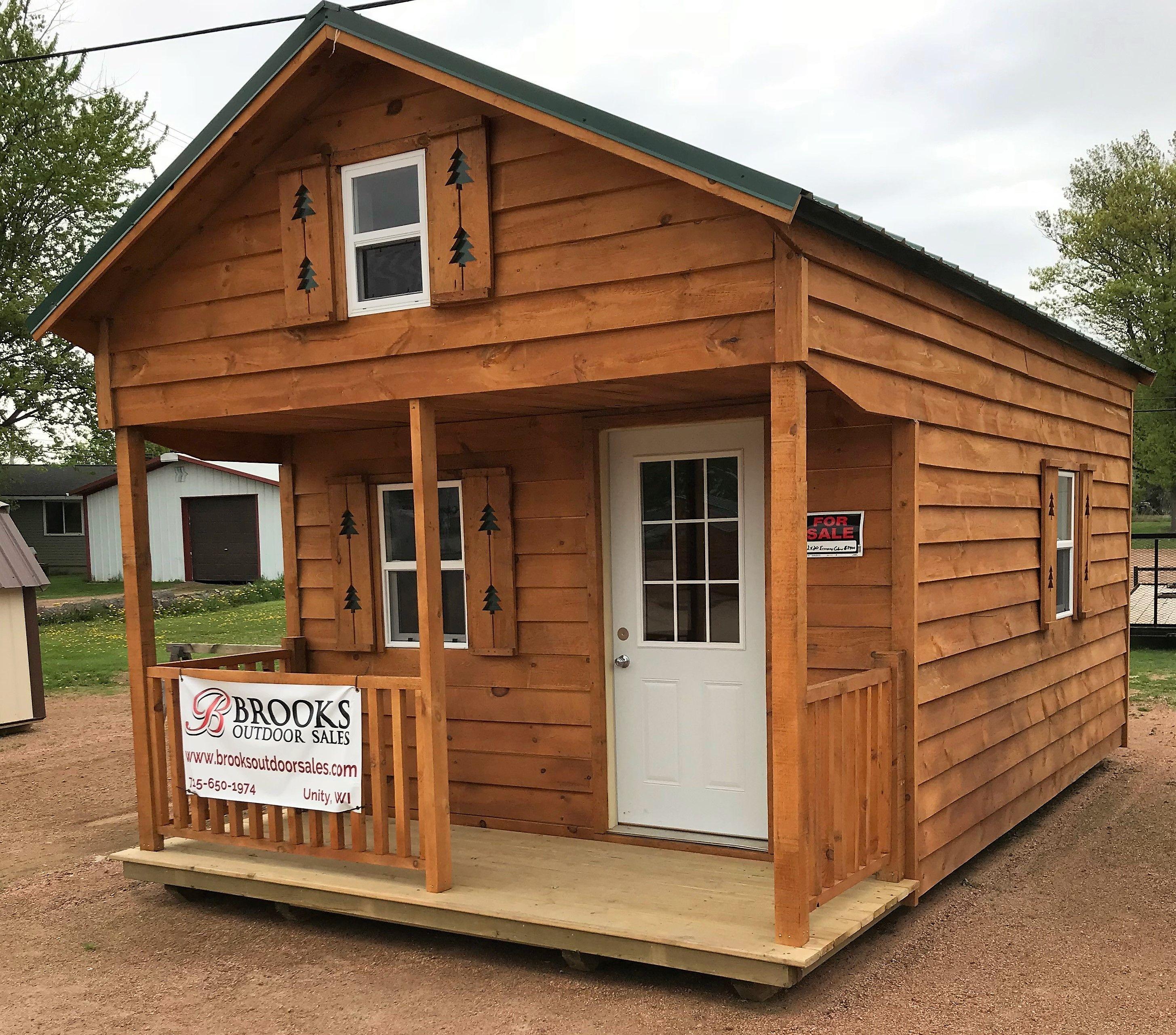 12x20 Cabin | Steel entry doors, Spray insulation, Cabin