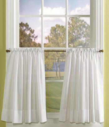 Country Curtains Striped Semi Sheer Tier Curtains