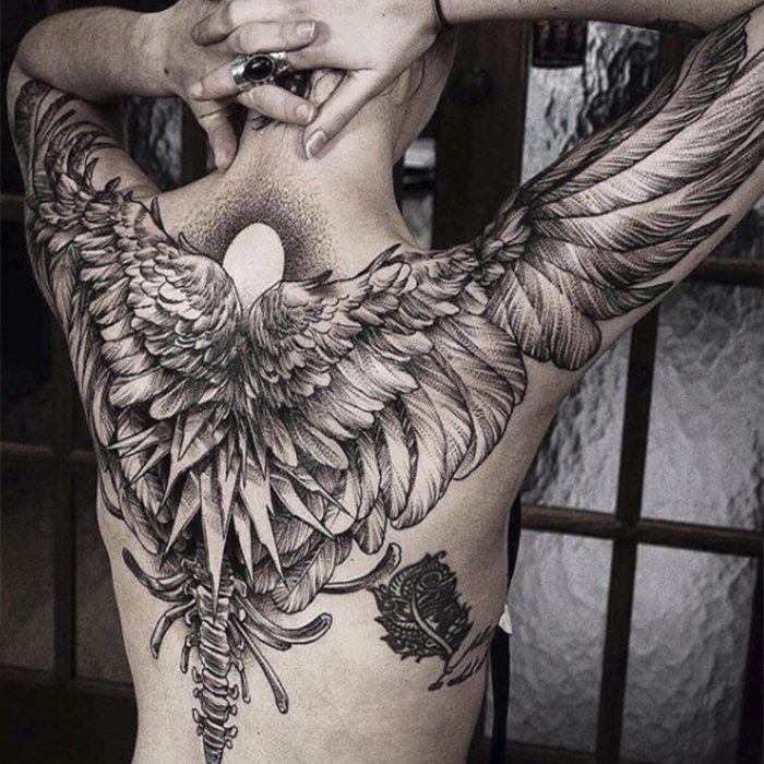 Тату крылья: 60+ фото мужских и женских тату, значение (с ...