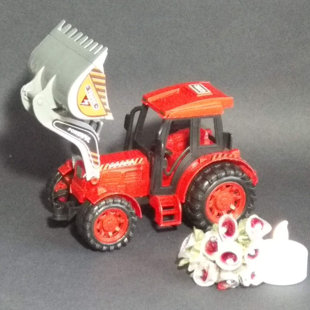spielzeug traktor mit schaufel rot  spielzeug traktor