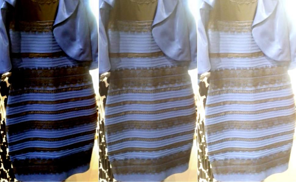 What Colors Do You See On This Dress White And Gold Blue