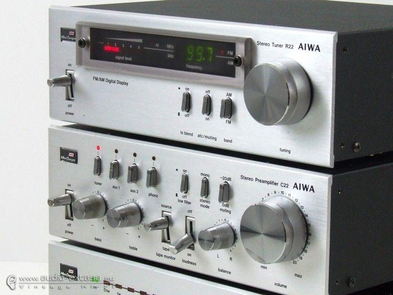 Aiwa 22 : mini hi-fi system vintage vinyl stereo late 70's