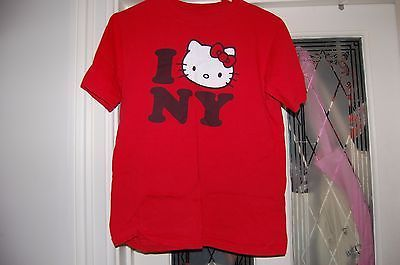 #Hello kitty sanrio red i love new york #t-shirt #adult size s,  View more on the LINK: http://www.zeppy.io/product/gb/2/151960419069/