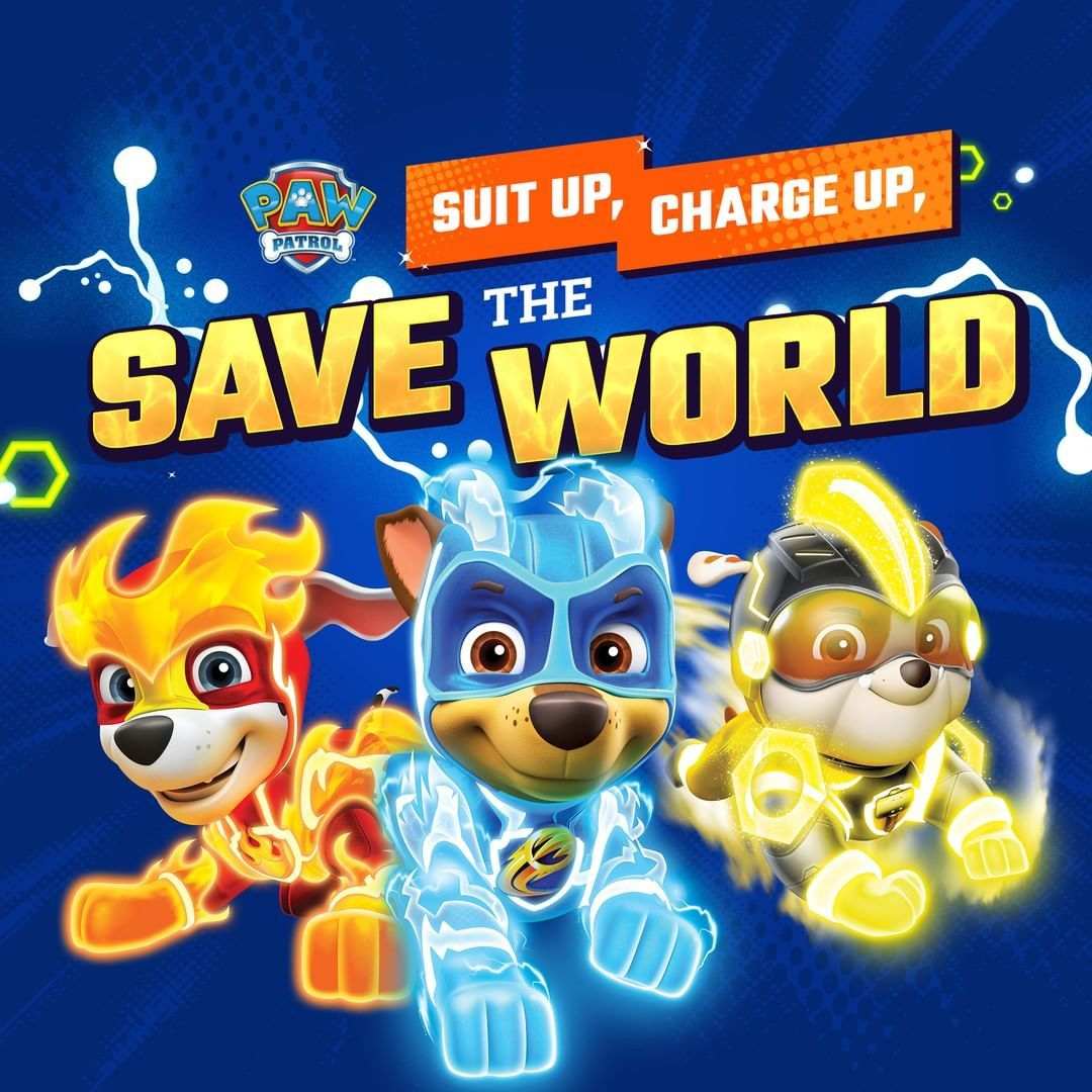 Paw Patrol On Instagram Suit Up Charge Up And Save The World An All New Episode Of Mighty Pups Charged Up Airs Tomorrow Monday O Paw Patrol Paw Paw Party