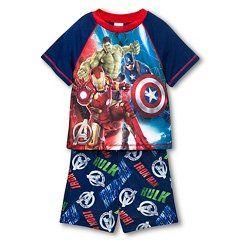 Boys' Avengers Iron Man & Hulk Pajamas - BLUE