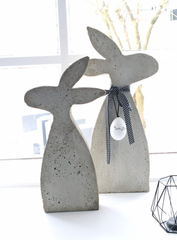 Photo of Rabbits made of concrete with a homemade mold – HANDMADE Kultur