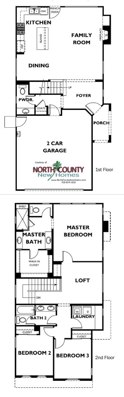 Serra Floor Plans Vista New Homes North County New Homes Floor Plans New Homes How To Plan