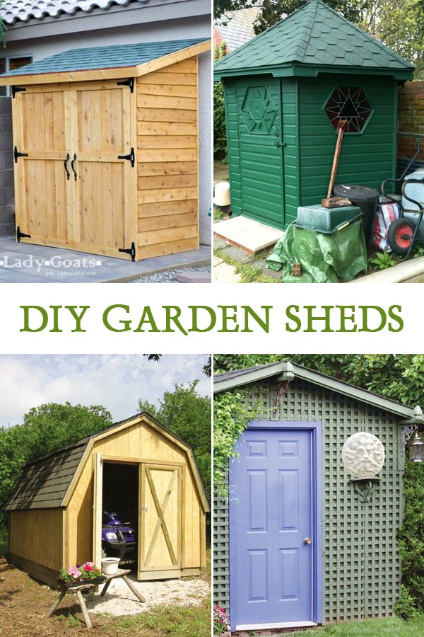 10 Easy DIY Garden Sheds You Can Build Yourself | Pinterest ...
