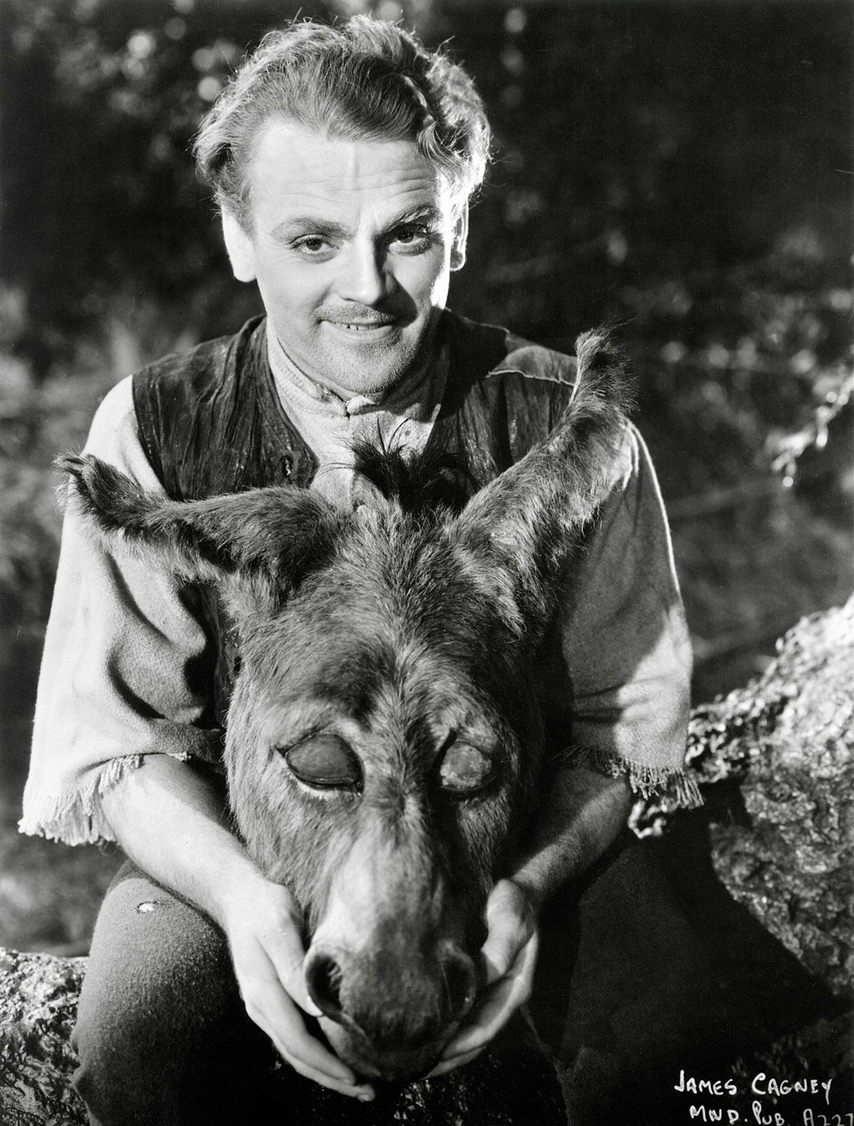 James Cagney is Bottom, the weaver, in A MIDSUMMER NIGHT'S DREAM ('35)