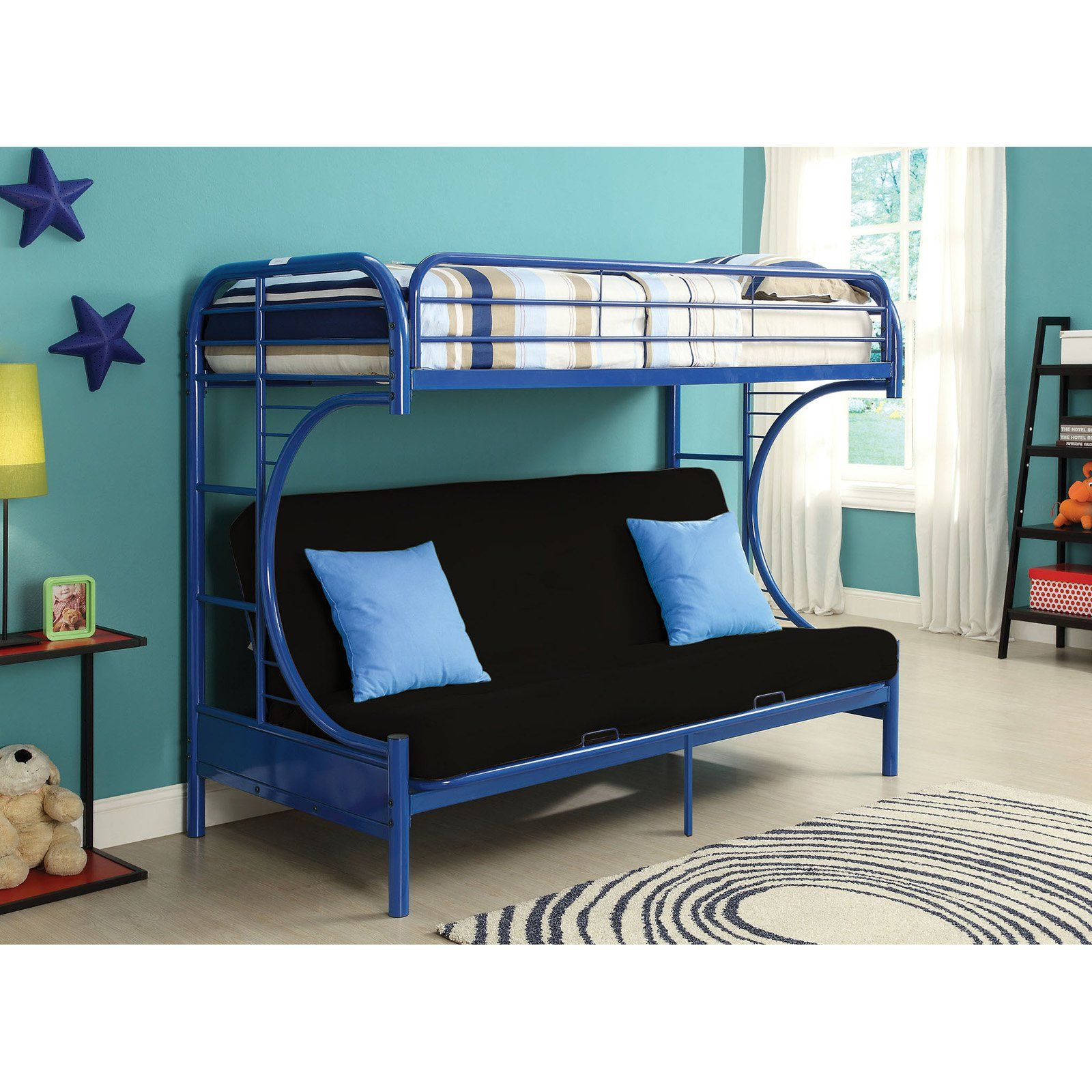 Acme Furniture Eclipse Twin Over Full Futon Bunk Bed Queen Futon