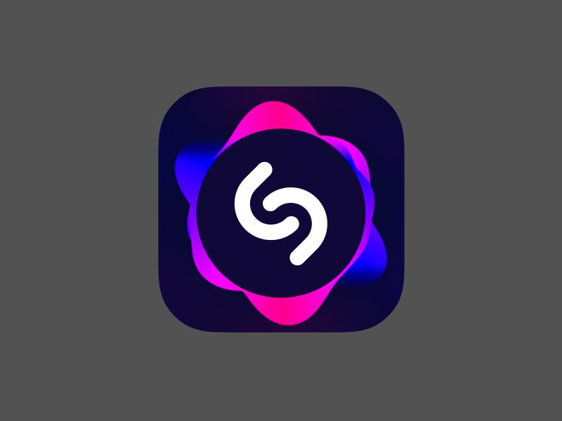 Shazam Logo Concept Logo concept, App icon design, App icon