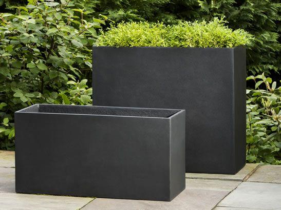 Swell Modular Planter 7 Fliberglass Planter In Onyx Black By Download Free Architecture Designs Rallybritishbridgeorg