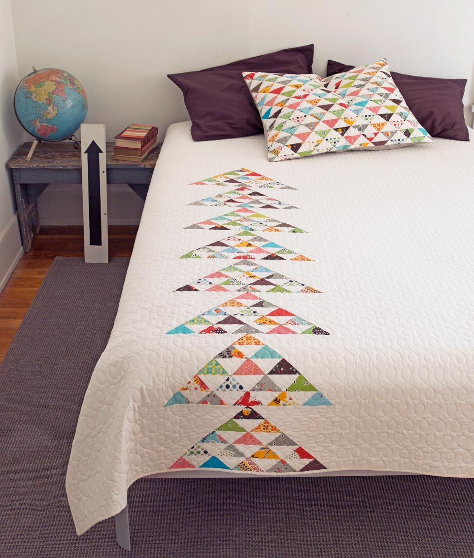 Modern Quilted Pillows Pattern : Beautiful Modern Quilt...love the matching pillow I love this because I would hate making tons ...