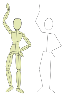 How To Draw People Breaking Down To A Stick Person Drawing People Cartoon Body Cartoon Drawings Of People