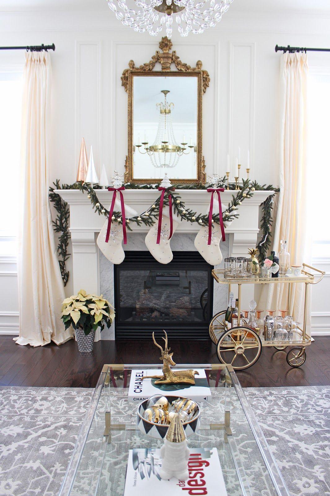 2016 holiday home tour | christmas decorations living room, elegant christmas decor, christmas