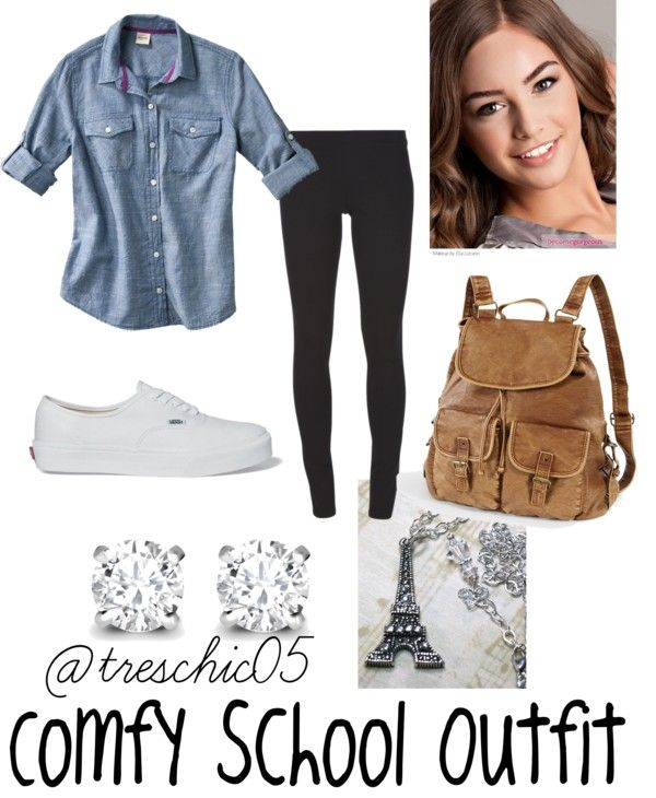 U0026quot;Comfy School Outfitu0026quot; by elizabethdahl on Polyvore. This is EXACTLY what like 90% of the girls ...