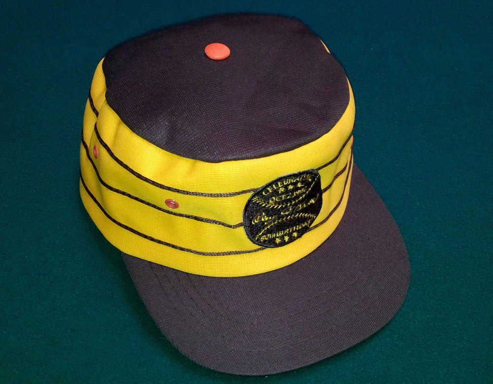VINTAGE San Diego Padres RAY KROC BIRTHDAY PillBox Style Snapback HAT OSFA  Gwynn  SanDiegoPadres 82fdc660e3f