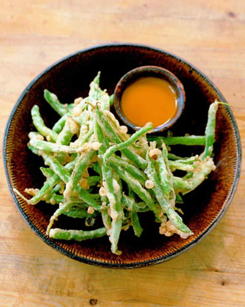 Fried Green Beans with Sweet Hot Mustard Recipe Fried