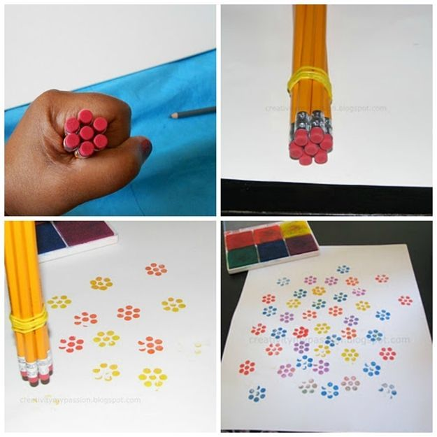 pencil rubber stamps