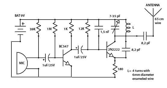 sensitive fm transmitter bug electronics pinterest rh fi pinterest com 1 Mile FM Transmitter Long Range FM Transmitter Bug