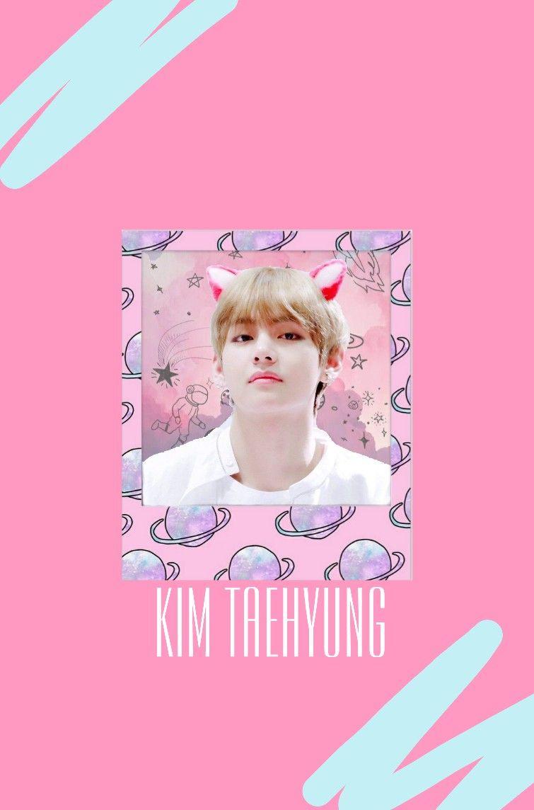 Kimtaehyung Wallpaper Pastelwallpaper Bts Kimtaehyungwallpaper Wallpapertumblr Pink Aesthetic Pastel Wallpaper Wallpaper Pink pastel bts wallpaper