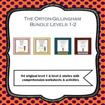 Orton Gillingham Bundle Decodable Stories Comprehension Sheets