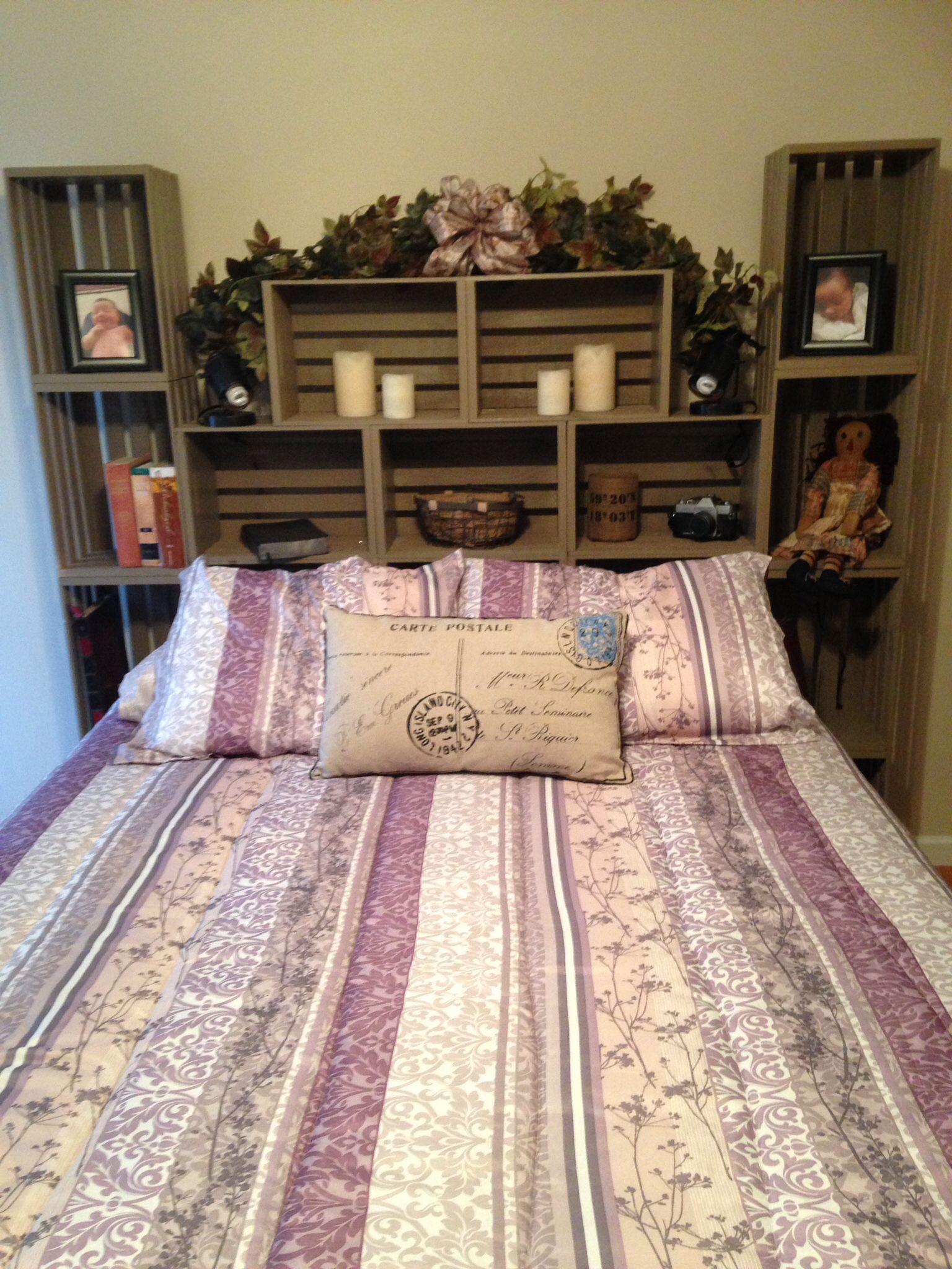Queen Crate Headboard Bookshelf Headboard Pallet Furniture