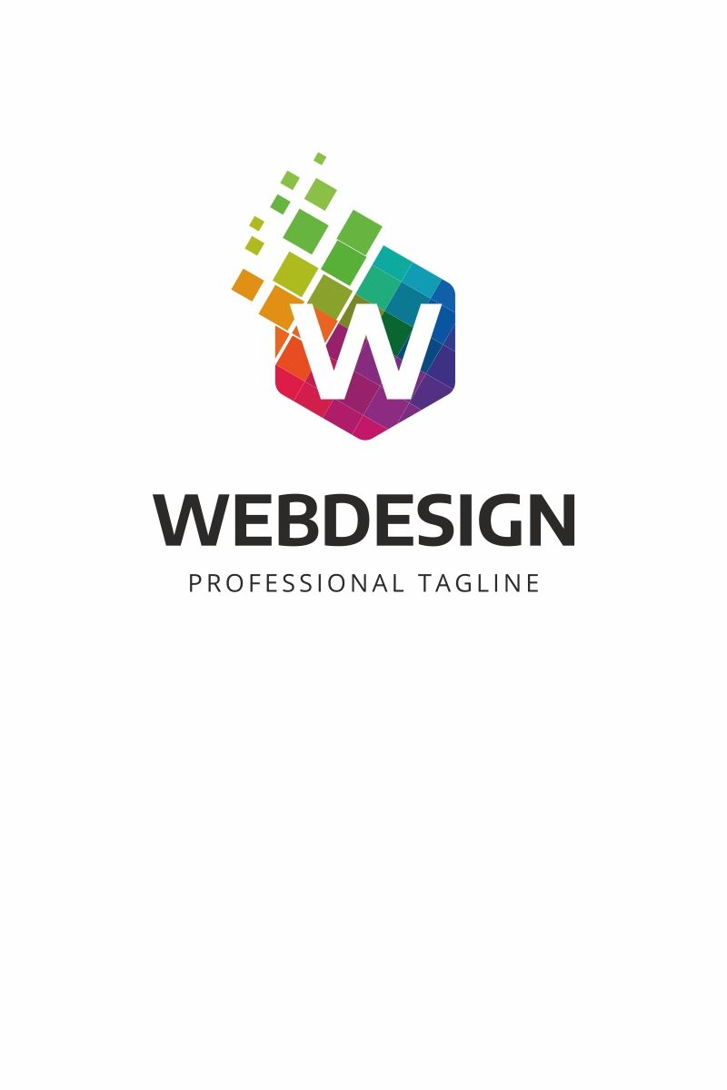 Web Design W Letter Logo Multifunctional Logo That Can Be Used In Technological Companies In Companies And App Colorful Logo Design Logo Templates Web Design